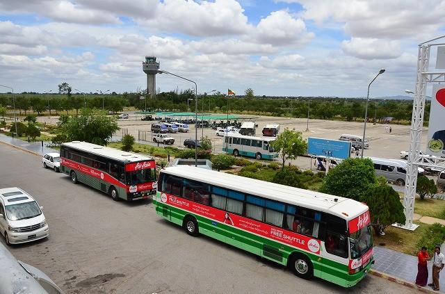 マンダレー空港 シャトルバス