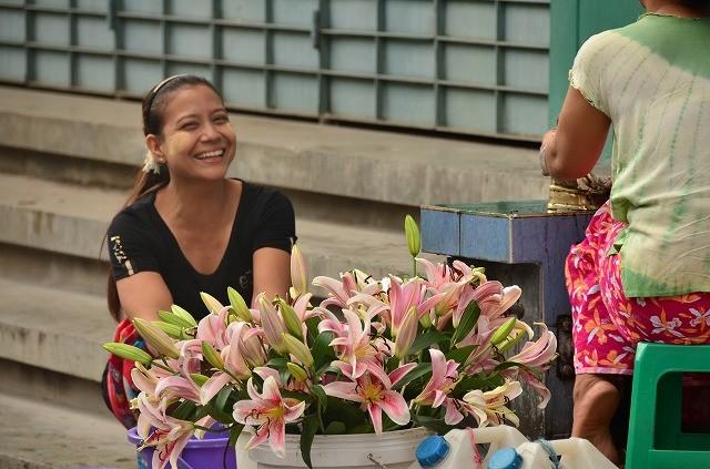 マンダレーの花屋