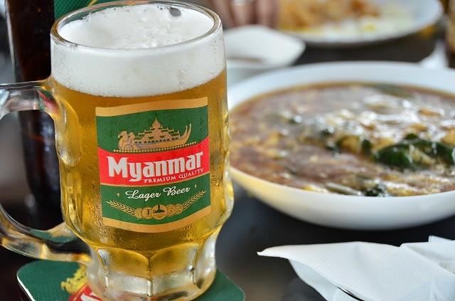 ミャンマービールとミャンマー料理