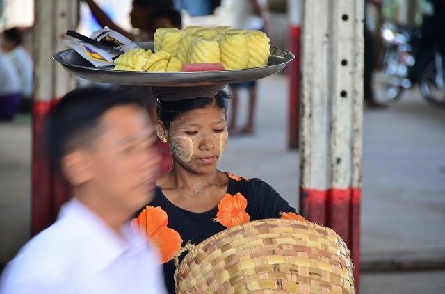ミャンマー鉄道車窓から5