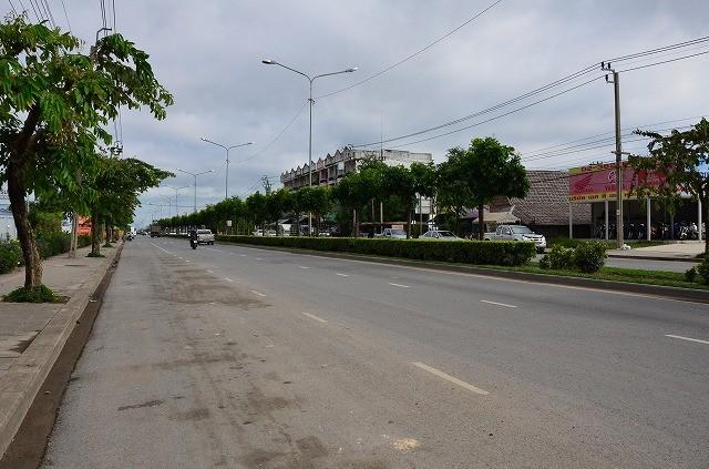 スワンナプーム空港近くの道路